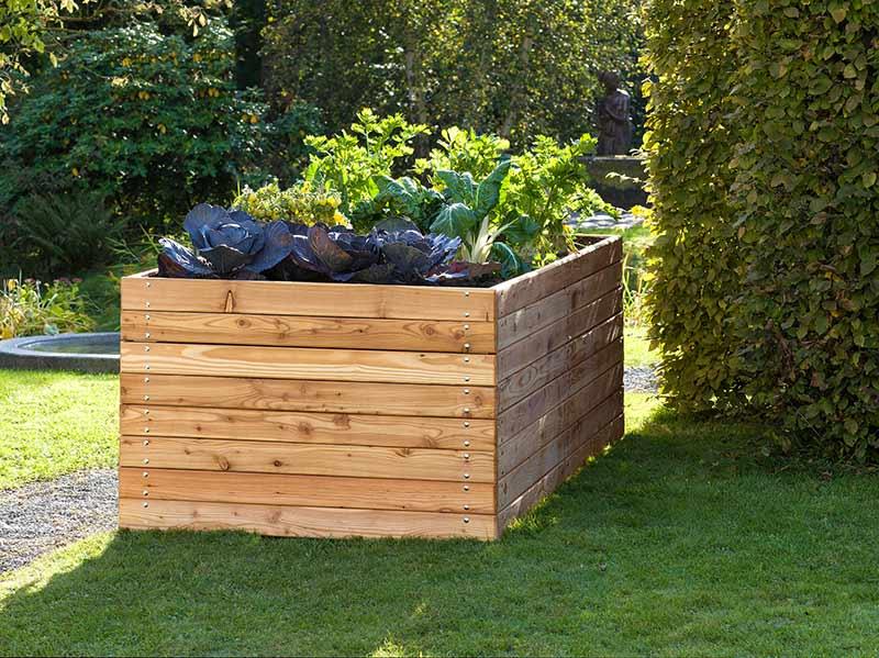 hochbeet aus holz und metall f r ihren garten terrasse oder balkon. Black Bedroom Furniture Sets. Home Design Ideas